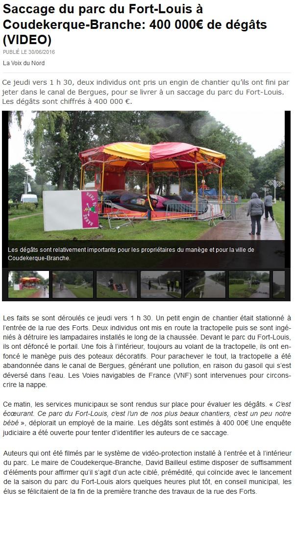 vdn du 30 juin 2016 - vandalisme parc
