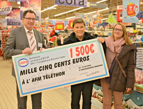 1500 euros reversés au profit du combat contre la myopathie