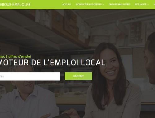 Lancement du nouveau site internet coudekerque-emploi.fr lors du barbecue des entreprises au château Lesieur