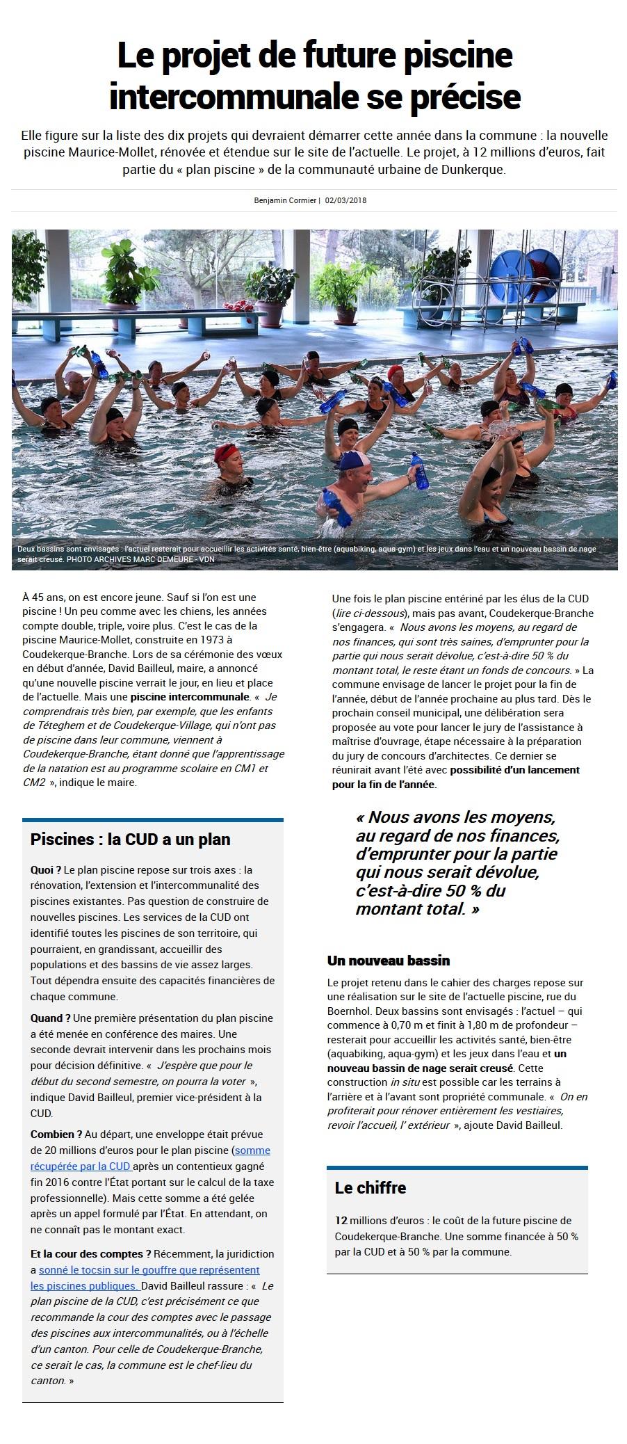Le projet de future piscine intercommunale se pr cise for Piscine bailleul