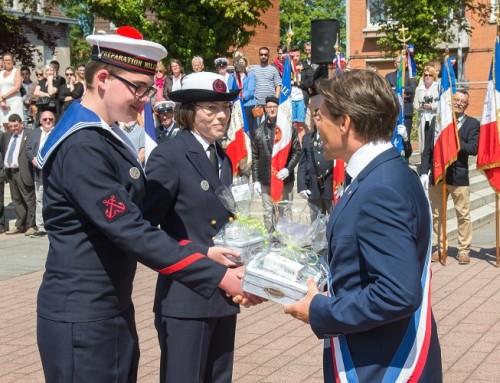 Très belle cérémonie de remise des insignes aux jeunes marins de la préparation militaire marine