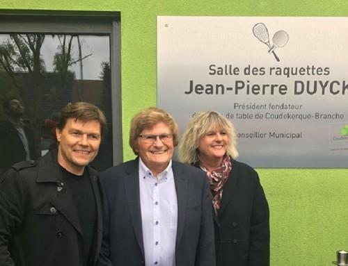 La salle des raquettes est maintenant dénommée du nom de Jean Pierre Duyck