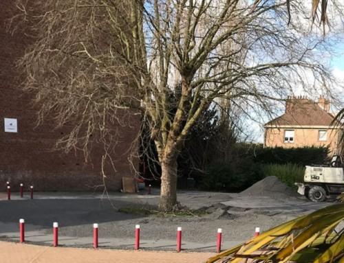 Démarrage des travaux pour la réalisation de plusieurs aires de stationnements